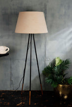 Load image into Gallery viewer, Joss Stick Lamp Stand with Tapered Beige Lampshade