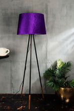 Load image into Gallery viewer, Joss Stick Lamp Stand in 2 Tapered [BEIGE, PURPLE VELVET] Shade