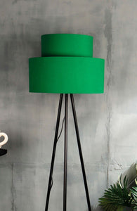 Green Upside Down Lampshade for floor lamps