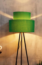 Load image into Gallery viewer, Green Upside Down Lampshade for floor lamps