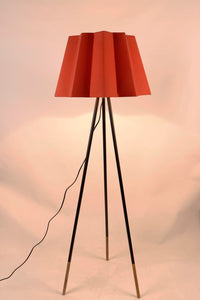 Red Folded Designer Lampshade