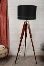 Load image into Gallery viewer, Triple Fold Brass Lamp Stand with 3 Black Shade in [3 Size]