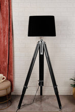Load image into Gallery viewer, Double Fold Black Lamp Stand with BLACK Shade in [3 Sizes]