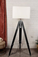 Load image into Gallery viewer, Double Fold Black Lamp Stand with WHITE Shade in [3 Sizes]