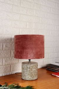 Dusty Pink Color Velvet Lampshade for Lamps