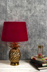 Tropical Table Lamp with 2 [PINK VELVET, ORANGE VELVET] Shade