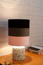 Load image into Gallery viewer, White Terrazzo Table Lamp with Multi-color Lampshade