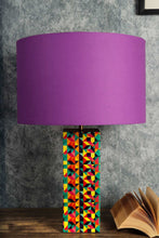 Load image into Gallery viewer, Violet Drum Cotton Lampshade