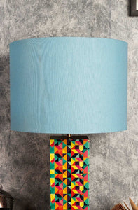 Baby Blue Color Cotton Lampshade for Lamps