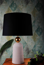 Load image into Gallery viewer, Golden Egg Table Lamp with 3 [BLACK, GREEN, YELLOW] Shade