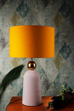Load image into Gallery viewer, Tangerine Drum Cotton Lampshade
