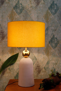 Tangerine Drum Cotton Lampshade