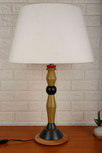 Lassie Table Lamp with White Frustum Lampshade