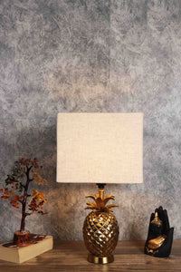 Tropical Table Lamp with 5 [VELVET, WHITE, BLACK, YELLOW, BEIGE] Shade