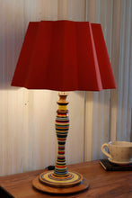 Load image into Gallery viewer, Splendid Table Lamp with Designer Red Folded Shade