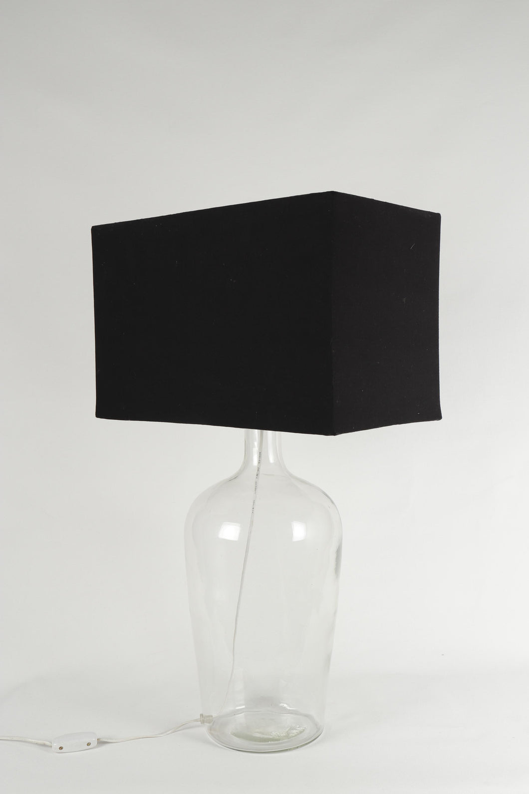 Clear Bottle Table Lamp with 2 [Black, Beige, White] Lampshades