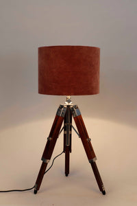 Small Nickle Table Lamp with 2 [GREEN, DUSTY PINK] Shade