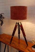 Load image into Gallery viewer, Small Nickle Table Lamp with 2 [GREEN, DUSTY PINK] Shade