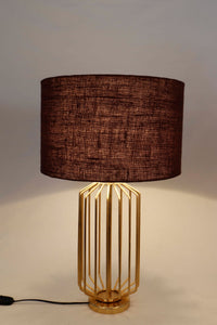 burnt orange table lamp shades