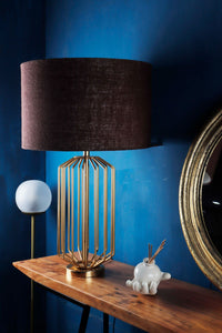 orange base table lamp