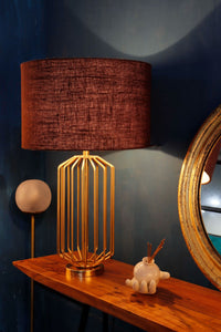 orange table lamp base