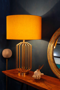 orange ceramic table lamp