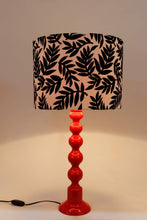 Load image into Gallery viewer, Red Caterpillar Table Lamp with Printed Designer Shade