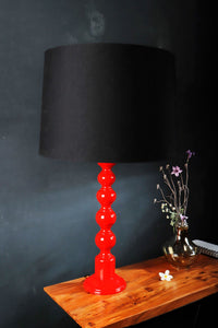 Red Caterpillar Table Lamp with 3 [RED, BLACK, GREEN] Shade