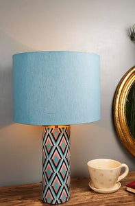Phantom Table Lamp with 2 [BABY BLUE, WHITE] Round Lampshade