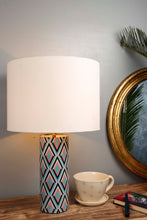 Load image into Gallery viewer, Phantom Table Lamp with 2 [BABY BLUE, WHITE] Round Lampshade