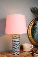 Load image into Gallery viewer, Phantom Table Lamp with 3 [GREY, SKY BLUE, PINK] Tapered Lampshade