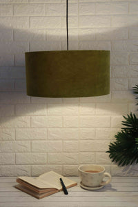Olive Green Color Velvet Lampshade (16inches)