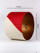 Load image into Gallery viewer, Red & White Lampshade for Table Lamp