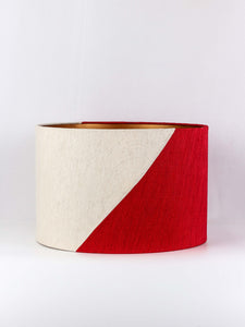Red & White Lampshade for Table Lamp