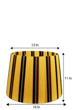 Load image into Gallery viewer, Triple Fold Brass Lamp Stand with Multi-color Yarn Shade