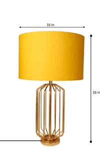 orange table lamp shade