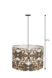 Designer Print Hanging Lampshade in [4 Shapes]