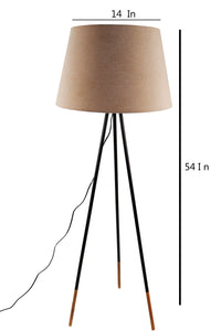 Joss Stick Lamp Stand with Tapered Beige Lampshade