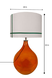 Big Bump Table Lamp with 2 [RED & GREEN] Stripe Lampshade