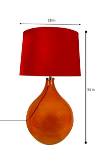 Big Bump Table Lamp with 2 [RED, BLACK] Lampshade