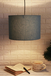 Light Blue Cotton Lampshade for Home Decor (14inches)