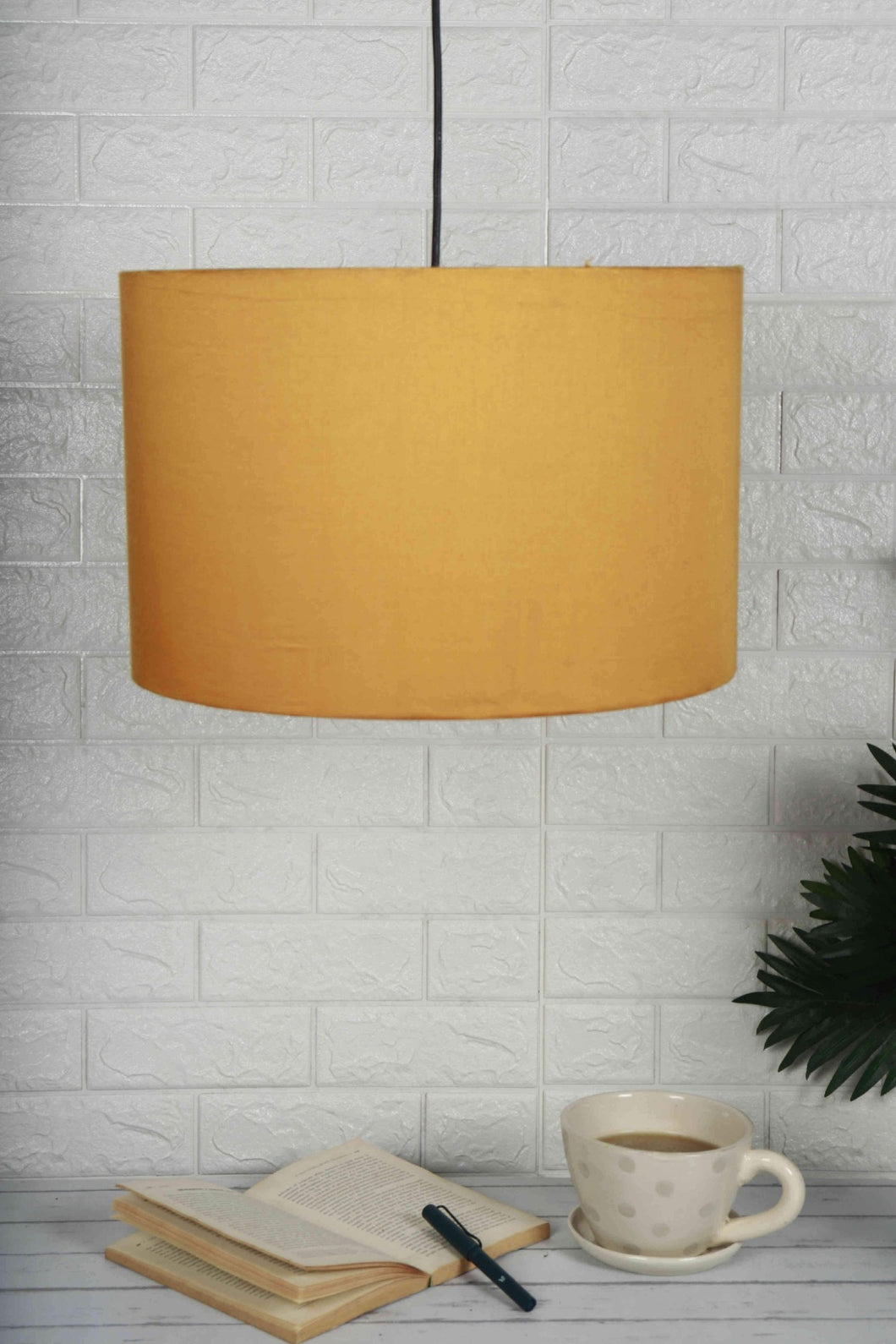 Big Yellow Color Hanging Lampshade for home decor