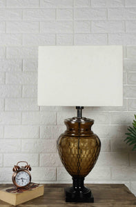 Strawberry Drop Table Lamp with Rectagular White Lampshade