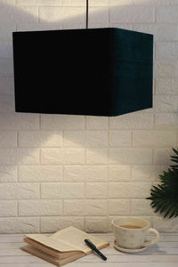 Bottle green lampshade