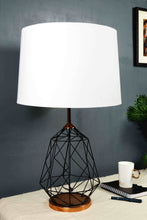 Load image into Gallery viewer, Matrix Table Lamp with 4 [WHITE, GREEN VELVET, ORANGE, PINK] Shade