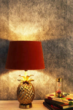 Load image into Gallery viewer, Tropical Table Lamp with 2 [PINK VELVET, ORANGE VELVET] Shade