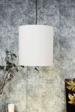 Load image into Gallery viewer, Small White Color Cotton Hanging Lampshade for home decor