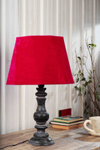Load image into Gallery viewer, Shady Black Table Lamp with 3 [PINK VELVET, RUGGED ORANGE, SKY BLUE] Shade