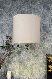 Small Beige Color Cotton Hanging Lampshade [12Inches]