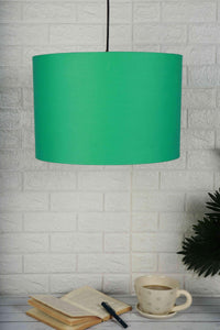 green lampshade